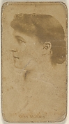 Miss Morris, from the Actors and Actresses series (N45, Type 8) for Virginia Brights Cigarettes
