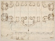 Studies for the Nave and Narthex of San Giovanni in Laterano, Rome (recto and verso)