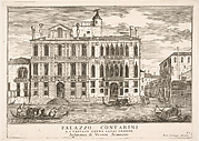 Plate 85: View of the Contarini Palace in Campo San Trovaso, Venice, 1703, from the series 'The buildings and views of Venice' (Le fabriche e vedute di Venezia)