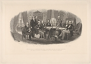President Lincoln and His Cabinet, with Lt. General Scott, in the Council Chamber at the White House