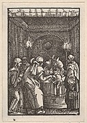 Joachim's Sacrifice Refused by the Priest, from The Fall and Salvation of Mankind Through the Life and Passion of Christ