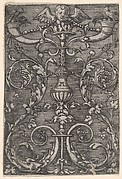 Ornamental Design with an Angels Head at Top