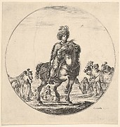 Polish horseman facing right, a circular composition, from 'Figures on Horseback' (Cavaliers nègres, polonais et hongrois)