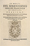 Title page 2: Medici coat of arms in bottom center, from
