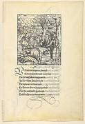 Theuerdarnk on a Boar Hunt, from [Theuerdank] Die geuerlicheiten vnd einsteils der geschichten des loblichen streytparen vnd hochberümbten helds vnd Ritters herr Tewrdannckhs