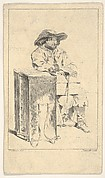 Seated Man Holding a Box