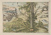 Facsimile Reproduction of Landscape with a Double Spruce
