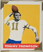 Tommy Thompson, from the All-Star Football series (R401-2), issued by Leaf Gum Company