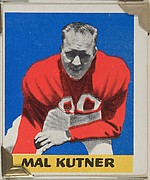 Mal Kutner, from the All-Star Football series (R401-2), issued by Leaf Gum Company