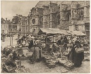 Market Day at Villenauxe-la-Grande (Aube), 1894
