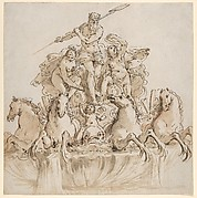 Design for a Fountain with Neptune in his Chariot
