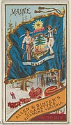 Maine, from Flags of the States and Territories (N11) for Allen & Ginter Cigarettes Brands