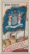 New Jersey, from Flags of the States and Territories (N11) for Allen & Ginter Cigarettes Brands