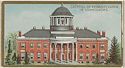 Capitol of Pennsylvania in Harrisburg, from the General Government and State Capitol Buildings series (N14) for Allen & Ginter Cigarettes Brands