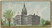 Capitol of Michigan in Lansing, from the General Government and State Capitol Buildings series (N14) for Allen & Ginter Cigarettes Brands