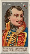 Casimir Pulaski, from the Great Generals series (N15) for Allen & Ginter Cigarettes Brands