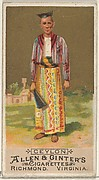 Ceylon, from the Natives in Costume series (N16) for Allen & Ginter Cigarettes Brands