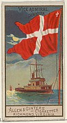 Vice Admiral, Denmark, from the Naval Flags series (N17) for Allen & Ginter Cigarettes Brands