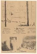 Program for L'Œuvre theater, May 1894 (Lisez la Revue Blanche / Frères; La Gardienne; Créanciers)