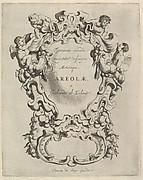 Veelderhande Niewe Compartimente (Titlepage in Latin)