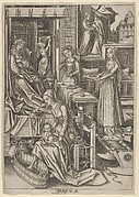 The Birth of Mary, from The Life of the Virgin