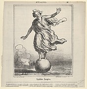 Equilibre Europeen, from Actualités, published in le Charivari, April 3, 1867