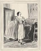 Rien n'est si joli que la fable, si triste que la vérité!, plate 30 from the suite Les Lorettes, published in Le Charivari, October 21, 1842