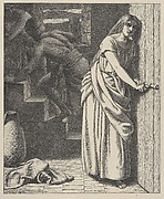 Rahab and the Spies (Dalziels' Bible Gallery)