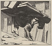 Samson Carrying the Gates (Dalziels' Bible Gallery)
