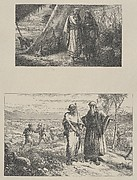 Abram Instructing Sarah–Abram Parting from Lot (Dalziels' Bible Gallery)