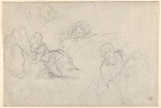The Virgin and Holy Women, studies for