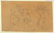 Battle Scene with a Prisoner Being Bound, after Raphael