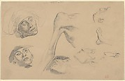 Head, Shoulder, and Foot, studies for