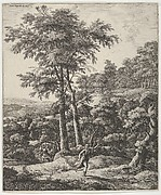 Landscape with Apollo and Daphne, from the Series of Six Mythological Scenes