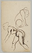 Studies of a Lion and a Female Nude (recto); Figure Studies (verso)