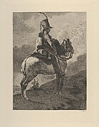 Trumpeter of the Hussars on Horseback