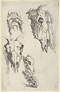 Three Ox Skulls, Two Horse Skulls and a Grotesque Head - Study for