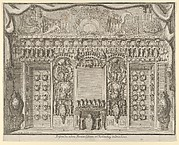 Design for the Porcelein Cabinet at the Charlottenburg Palace, other side