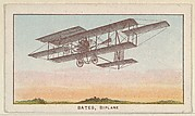 Bates, Biplane, from the Airships series (E40) issued by the Philadelphia Caramel Company