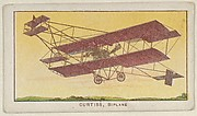 Curtiss, Biplane, from the Airships series (E40) issued by the Philadelphia Caramel Company