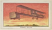 Farman, Biplane, from the Airships series (E40) issued by the Philadelphia Caramel Company