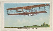 Gleason-Robinson, Biplane, from the Airships series (E40) issued by the Philadelphia Caramel Company