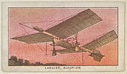 Langler, Monoplane, from the Airships series (E40) issued by the Philadelphia Caramel Company