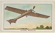 Latham, Monoplane, from the Airships series (E40) issued by the Philadelphia Caramel Company