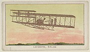 Lefebvre, Biplane, from the Airships series (E40) issued by the Philadelphia Caramel Company