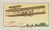 Wright, Biplane, from the Airships series (E40) issued by the Philadelphia Caramel Company