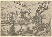 Battle Between a Centaur and a Triton with a Triton and a Nymph in the background