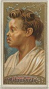 Madagascar, from the Types of All Nations series (N24) for Allen & Ginter Cigarettes