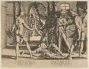 The Behading of the Roman Judge Papinian, from Thronus Justitiae, tredecim pulcherrimus tabulis..., plate 5