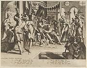 The Judge Bias Shedding Tears, from Thronus Justitiae, tredecim pulcherrimus tabulis..., plate 9